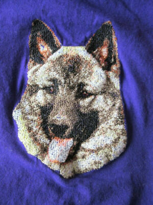 Embroidered Short-Sleeved T-Shirt - Norwegian Elkhound DLE2493 Sizes S - XXL