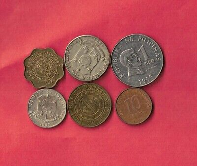 Philippines 6 Different 1967-2011 Coin Lot Collection Set Group Inc Old -Modern