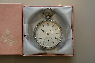 Beautiful Antique Swiss Hallmarked Solid Silver OMEGA Open Face Pocket Watch
