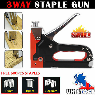 Heavy Duty Staple Gun 3 In 1 Stapler Tacker With Free 600 Staples Upholstery