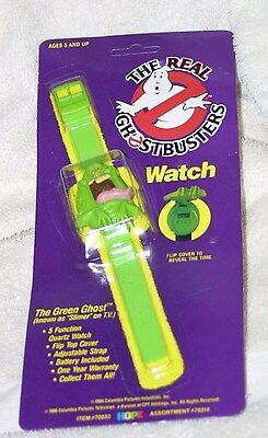Rare Vintage THE REAL GHOSTBUSTERS WATCH SLIMER THE GREEN GHOST MINT ON CARD