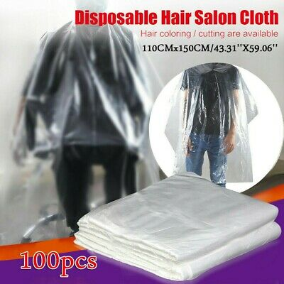 50-200PC Indoor Waterproof Disposable Hair Salon Capes Washing Pads Shampoo Cape