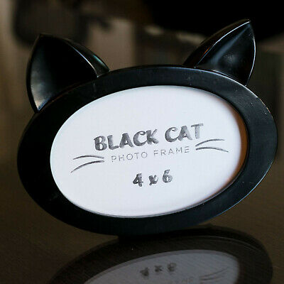 Cat Lady Black Cat Picture Frame New in Box