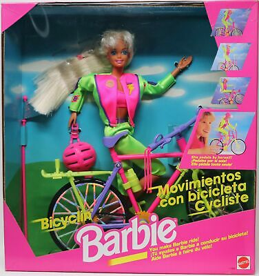 Foreign Bicyclin' Barbie Doll Set 11689 New NRFB Excellent Condition 1995 Mattel