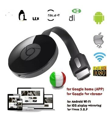 Chromecast Video 2 Hdmi Streaming Video Media Player Mirascreen