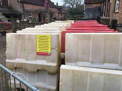 Plastic Site Barriers Water Filled 1m Long