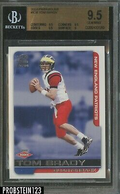 2000 Paramount #138 Tom Brady New England Patriots RC Rookie BGS 9.5