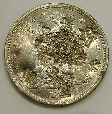 1874 CC - Silver Trade Dollar - Full of Chopmarks - 27.2g - guaranteed genuine