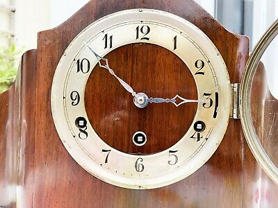 Stunning Restored 1930s FHS Antique Triple Chiming 8-bar 8-day Mantel Clock