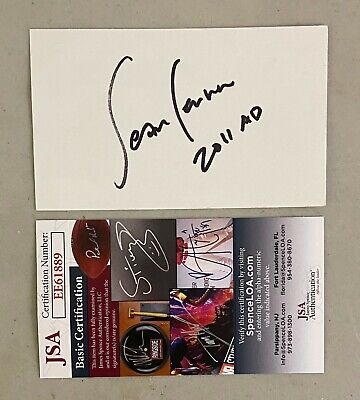 SEAN ONO LENNON Signed Autograph Auto 3x5 Index Card JSA - Beatles Related