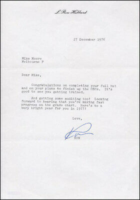 L. Ron Hubbard - Typed Letter Signed 12/27/1976