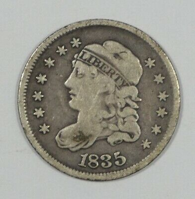 1835 Capped Bust Silver Half Dime FINE 5-Cents