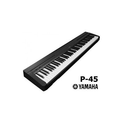 NEW Yamaha P-45 88 Key Weighted Action Digital Piano - Black, with Sustain Pedal