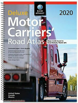 Rand McNally 2020 Deluxe Motor Carriers' Road Atlas Truckers Bus RV Maps