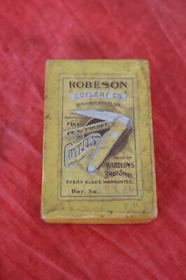 Scarce Early Vintage Robeson Cutlery Co. Pocket Knife Box Rochester, NY