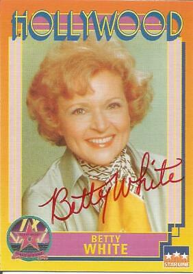 Betty White Autographed Card 1991 Hollywood Walk Of Fame