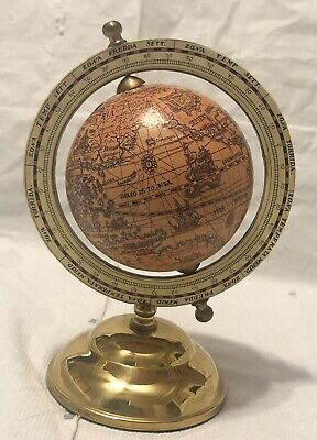 Minature Workd Globe With Brass Base