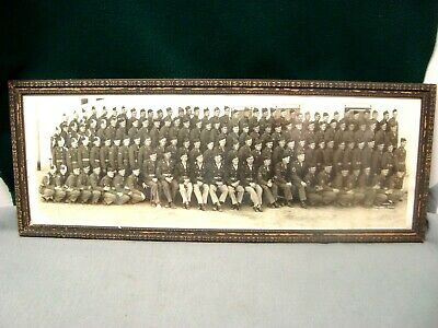 Vintage Framed Military Group Picture With Names On The Back