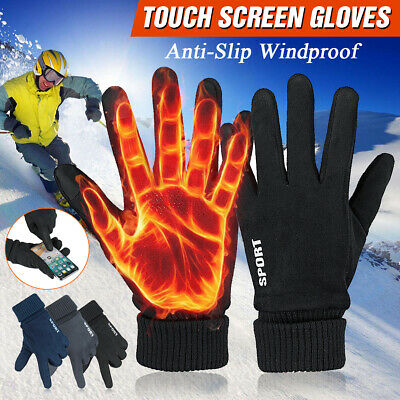 Men Winter Windproof Warm Gloves Thermal Touch Screen Outdoor Ski Sport Mittens