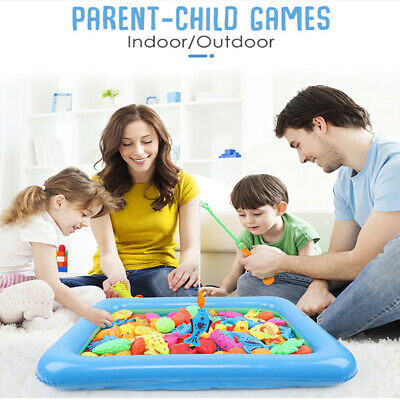 13pcs Set Magnetic Fishing Toys Child Kids 3D Fish Baby Bath Toy interactive Rod