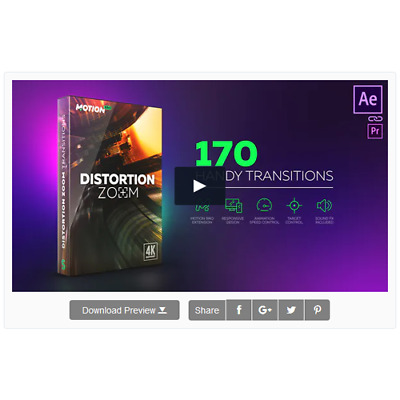 VideoHive Distortion Zoom Transitions AEP  2019