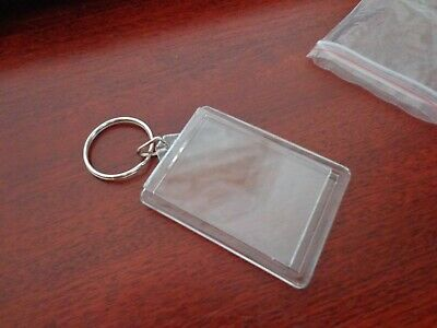 10 x photo keyrings NEW pop in your own photo / picture L@@K