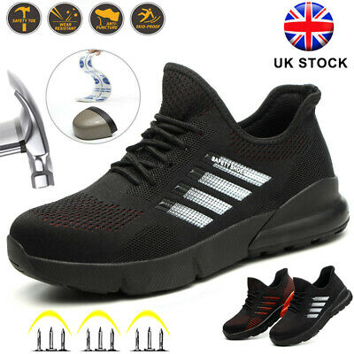 Men's Light Steel Toe Cap Safety Shoes Anti-Piercing Trainers Work Hiking Boots