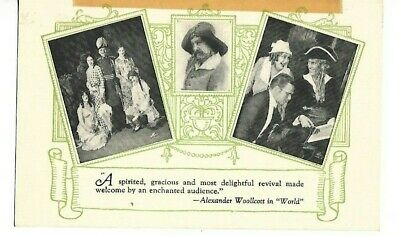 The Pirates Of Penzance Pre-Broadway Tryout 1927 Winthrop Ames Promo Postcard