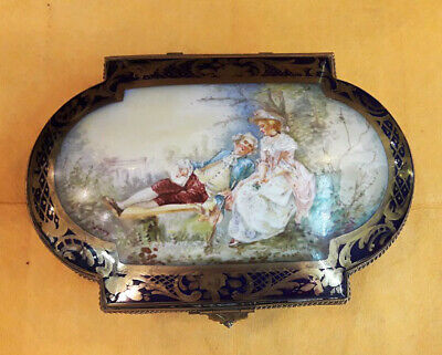 Antique Sevres French Porcelain Jewelry Box