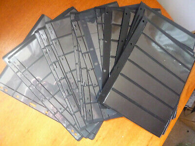 20 x black double sided loose leaf stock pages for stamp storage