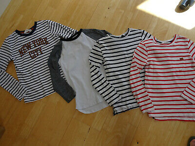 H&M boys 4 pack long sleeve tops AGE 6 - 7 YEARS EXCELLENT CONDITION