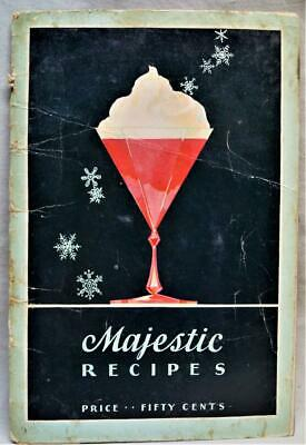 Majestic Electric Refigerator Advertising Recipes Brochure Guide 1938 Vintage