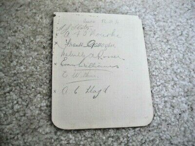 Wigan And Leeds Rugby League Signatures Circa Miid/Late 1920'S