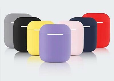 Hot silicon protective cover slim case for Apple AirPods earphone charger casing