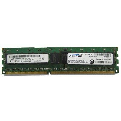 16GB (2 x 8GB) Micron MT18KSF1G72AZ PC3L-12800e Registered Server Memory