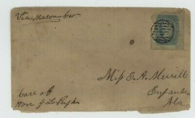 Mr Fancy Cancel CSA 11 COVER TIED ARMY OF NORTHERN VIRGINIA GRID SOLDIER CV$100