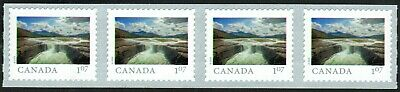 Canada sc#??? From Far and Wide 2020 : Carcajou Falls NT, Strip 4 Coil, Mint-NH