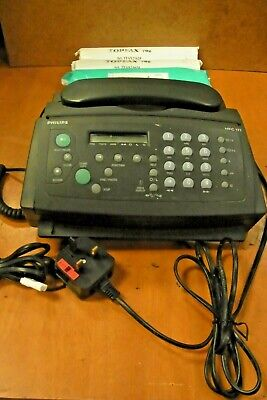 PHILLIPS  HFC 171  Fax machine  with 4 rolls of PAPER