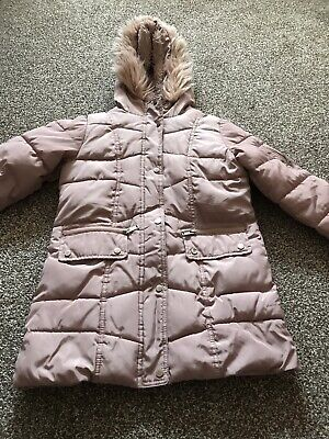 Primark Girls Age 10-11 Years Gorgeous Design Pink Coat Excellent Condition
