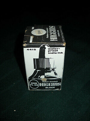 Faber-Castell Higgins Water Proof  Black India Ink  Sealed Box!  One Fl. Ounce