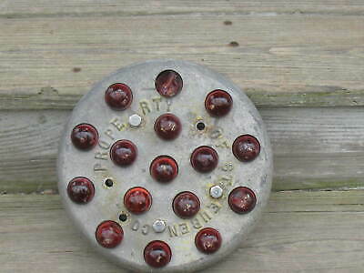 "1930's Large 7 1/2"" Sixteen Red Marble Bridge/Rail Reflector Steuben County NY"