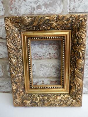 """vintage old picture frame gold fits a 6 inch x 4 """" painting"""