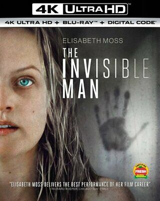 THE INVISIBLE MAN (4K Ultra HD +Blu-ray +Digial Code, with SLIPCOVER, 2020) NEW