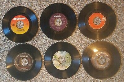 45 rpm classic rock vinyl records.  You pick 6   Great titles to choose from