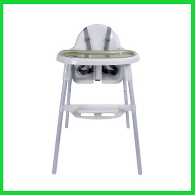 2 In 1 Baby Highchair Feeding Seat High Chair Adjustable Footrest Removable Tray