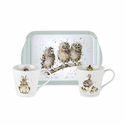 Wrendale by Royal Worcester s/2 Mugs & Tray Wrendale Designs