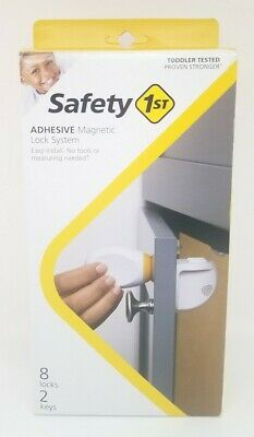 Safety 1st HS294 Adhesive Magnetic Child Safety Lock System 8 Locks and 2 Keys