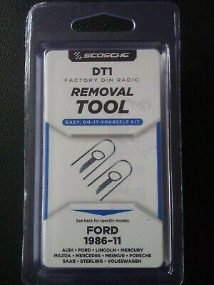 Scosche DT1 Factory DIN Radio Removal Tool 1985-11 Fits Various Ford Models