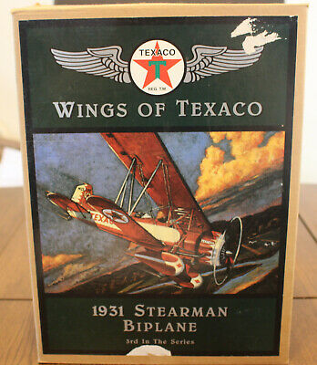 "Texaco Airplane Bank; Ertl; ""1931 Stearman Biplane"""
