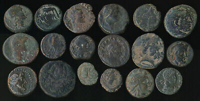 18 Ancient Coins (Ex-Texas Collection, You Identify) Good Pictures > No Reserve